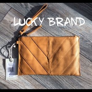 Lucky Brand large wallet mustard color leather